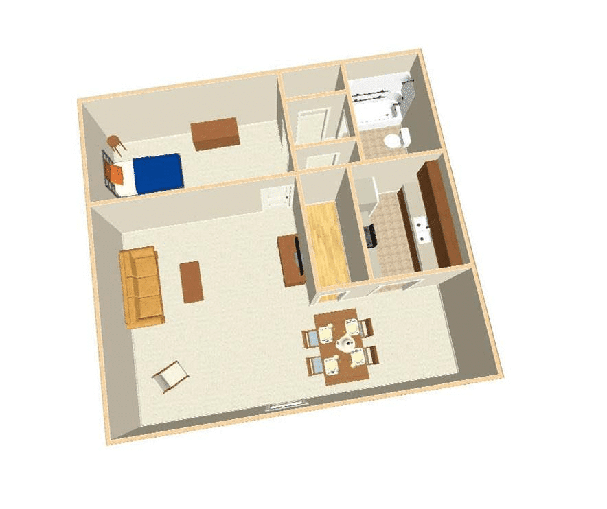 Apartment Layout - Willow Bend Apartments - Natchitoches, Louisiana